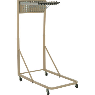 """Interion® Blue Print Pivot Mobile Rack with 12 Pivot Hangers & 12 36"""" Hanging Clamps"""