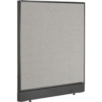 "Interion® Non-Electric Office Partition Panel with Raceway, 36-1/4""W x 46""H, Gray"