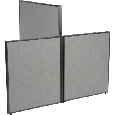 """Interion® Low-High 3 Way For Two 42"""" Low Panel"""