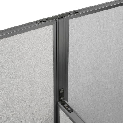 "Interion® High Low Three Way Kit For Two 76"" High Panel"