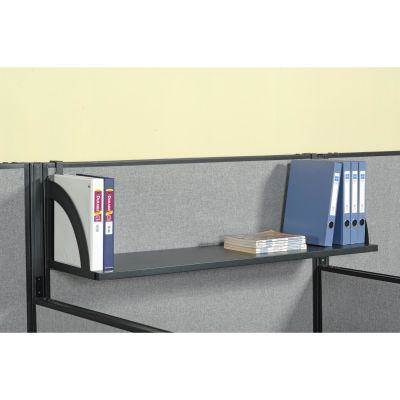 "Interion® Hanging Shelf For 48""W Panel - Black"