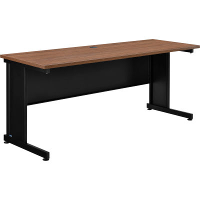 """Interion® 72""""W Desk - Walnut"""