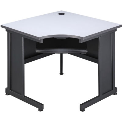 "Interion® 36""W Corner Desk - Gray"