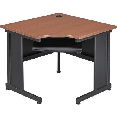 "Interion® 36""W Corner Desk - Cherry"