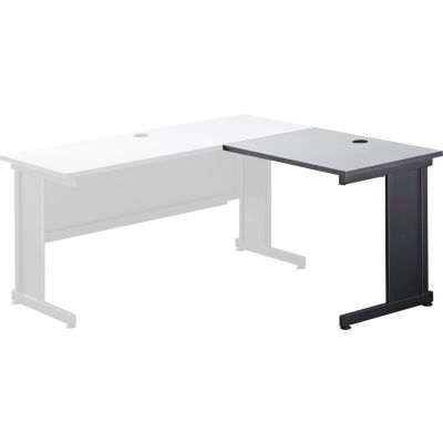 "Interion® 36""W Right Handed Return Table, Gray"