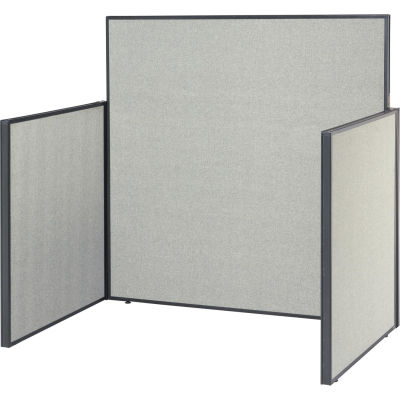 """Interion® Pre-Configured Call Center Cubicle Starter Kit - 48""""W x 48""""D, Gray"""
