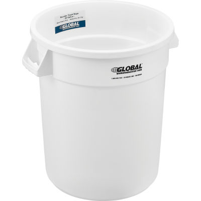 Global Industrial™ Plastic Trash Can - 20 Gallon White