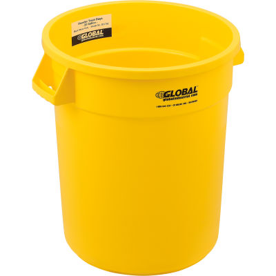 Global Industrial™ Plastic Trash Can - 20 Gallon Yellow