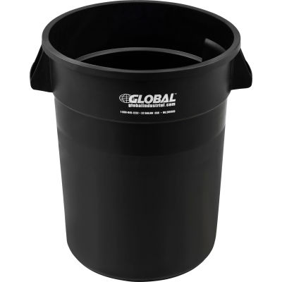 Global Industrial™ Plastic Trash Container, Garbage Can - 32 Gallon Black