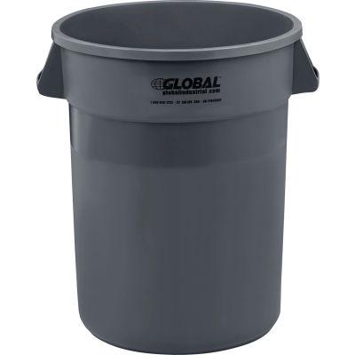 Global Industrial™ Plastic Trash Can - 32 Gallon Gray