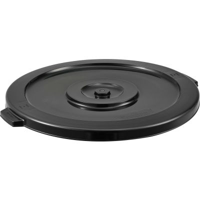 Global Industrial™ Plastic Trash Container, Garbage Can Lid - 32 Gallon Black