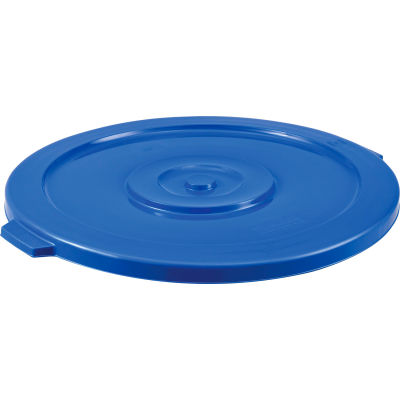 Global Industrial™ Plastic Trash Container, Garbage Can Lid - 32 Gallon Blue