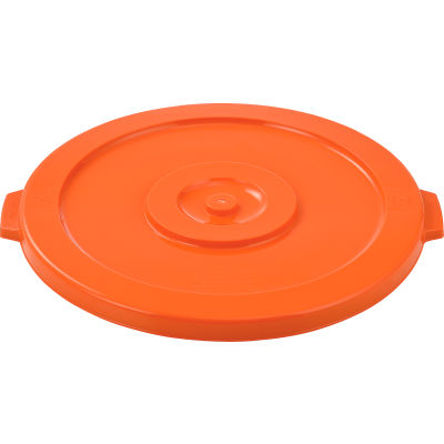 Global Industrial™ Plastic Trash Can Lid - 32 Gallon Bright Orange