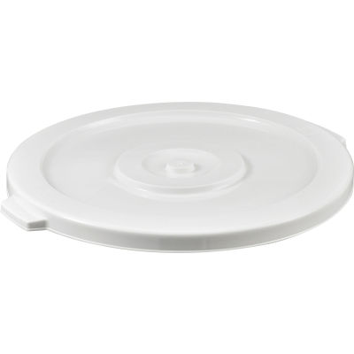 Global Industrial™ Plastic Trash Container, Garbage Can Lid - 32 Gallon White