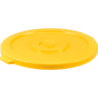 Global Industrial™ Plastic Trash Container, Garbage Can Lid - 32 Gallon Yellow