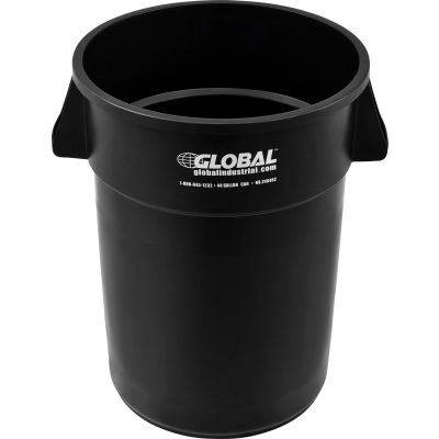 Global Industrial™ Plastic Trash Container, Garbage Can - 44 Gallon Black