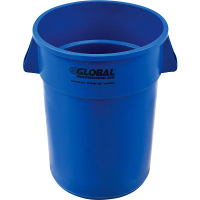 Global Industrial™ Plastic Trash Container, Garbage Can - 44 Gallon Blue