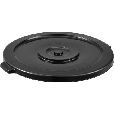 Global Industrial™ Plastic Trash Container, Garbage Can Lid - 44 Gallon Black