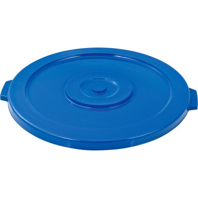 Global Industrial™ Plastic Trash Container, Garbage Can Lid - 44 Gallon Blue