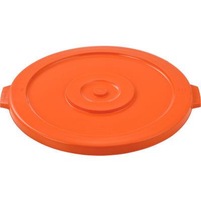 Global Industrial™ Plastic Trash Can Lid - 44 Gallon Bright Orange