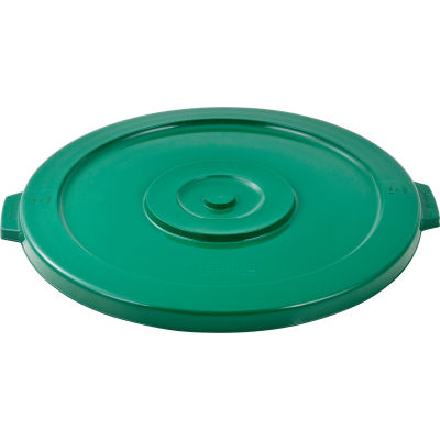 Global Industrial™ Plastic Trash Container, Garbage Can Lid - 44 Gallon Green