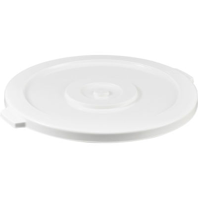 Global Industrial™ Plastic Trash Container, Garbage Can Lid - 44 Gallon White