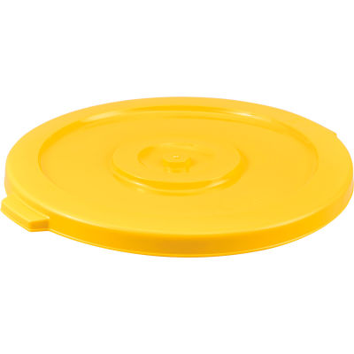 Global Industrial™ Plastic Trash Container, Garbage Can Lid - 44 Gallon Yellow