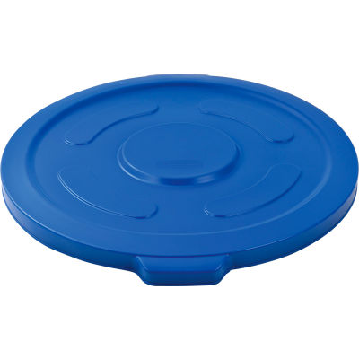 Global Industrial™ Plastic Trash Container, Garbage Can Lid - 55 Gallon Blue