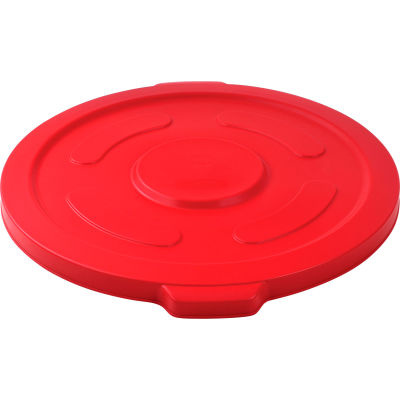 Global Industrial™ Plastic Trash Container, Garbage Can Lid - 55 Gallon Red