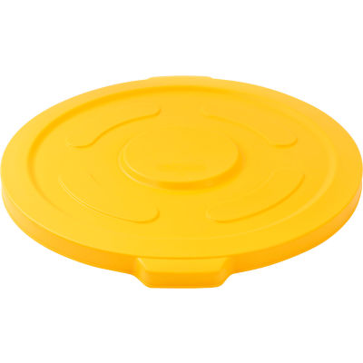 Global Industrial™ Plastic Trash Container, Garbage Can Lid - 55 Gallon Yellow