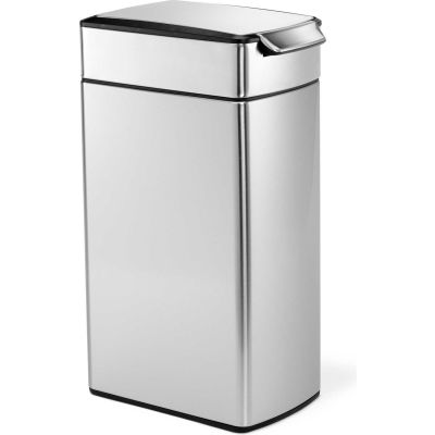 Simplehuman® Stainless Steel Slim Touch-Bar Trash Can, 10-1/2 Gallon