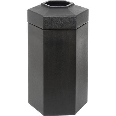 50 Gallon Hexagon Trash Container, Black - 737501