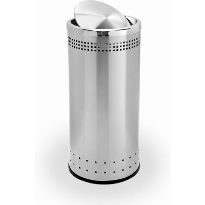 Stainless Steel Waste Container- Imprinted 360 Swivel Lid, 15 Gallon - 780729