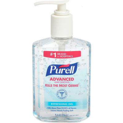 PURELL® Advanced Hand Sanitizer Gel, 8 oz. Bottle - 12 Bottles/Case 9652-12