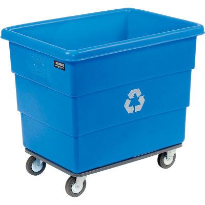 Dandux Recycling Cube Truck For Multiple Recyclables, 20 Bushel, Blue