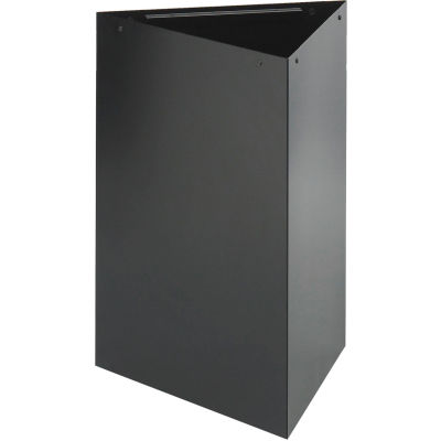Safco® Triangular Recycling Receptacle, 17 Gallon Black - 9551BL