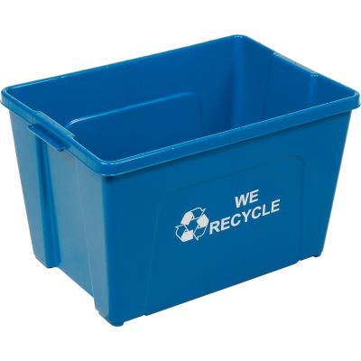 Global Industrial™ Curbside Recycling Bin, 18 Gallon, Blue