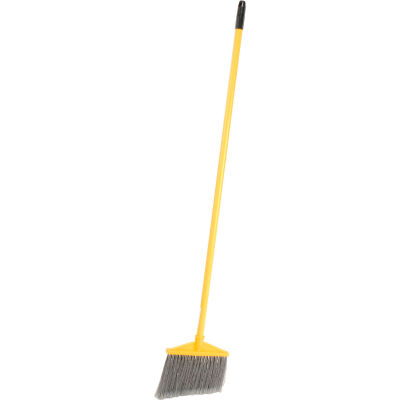Rubbermaid® Angled Broom With Vinyl Coated Metal Handle - Pkg Qty 6