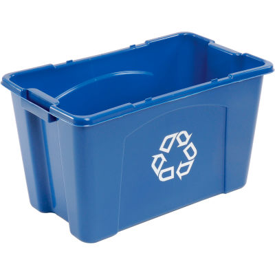 Rubbermaid® Recycling Bin, 18 Gallon, Blue