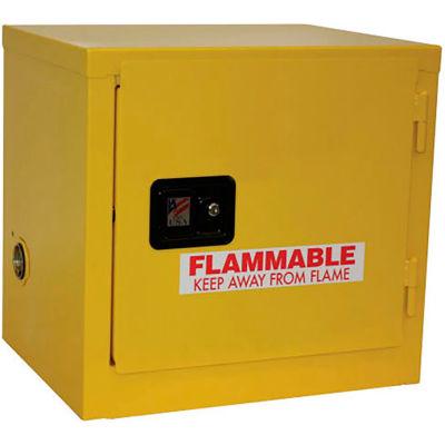 "Global Industrial™ Slim Flammable Cabinet, 6 Gallon Self Close Single Door, 23""W x 18""D x 22""H"