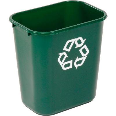 Rubbermaid® Deskside Recycling Wastebasket, 7 Gallon, Green