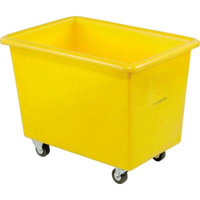 Dandux Yellow Plastic Box Truck 51126006Y-3S 6 Bushel Medium Duty