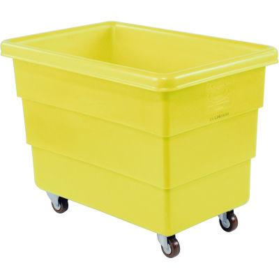 Dandux Yellow Plastic Box Truck 51126008Y-3S 8 Bushel Medium Duty