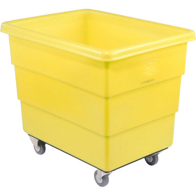 Dandux Yellow Plastic Box Truck 51126016Y-3S 16 Bushel Medium Duty