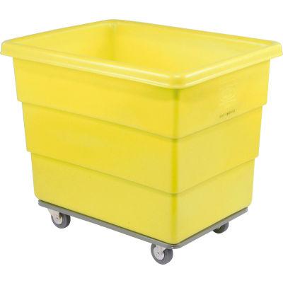 Dandux Yellow Plastic Box Truck 51116010Y-3S 10 Bushel Heavy Duty
