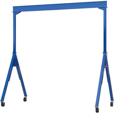 "Adjustable Height Steel Gantry Crane, 15'W x 8'7""-14'1""H, 6000 Lb. Capacity"