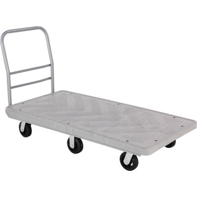 Global Industrial™ Structural Foam 60x30 Plastic Deck Platform Truck - 6 Wheels - 2500 Lb. Cap.