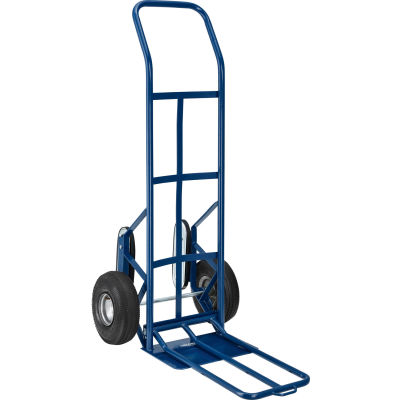 Global Industrial™ Steel Hand Truck With Curved Handle & Stair Climbers, 600 Lb. Capacity