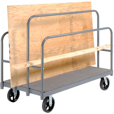 Global Industrial™ Panel, Sheet & Lumber Truck with Carpeted Deck 2400 Lb. Capacity