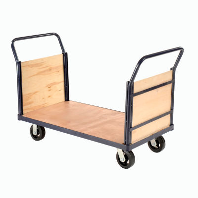 Global Industrial™ Euro Truck with Wood Ends & Deck 60 x 30 2000 Lb. Capacity